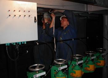 Монтаж системы прободоставки на Норильской обогатительной фабрике